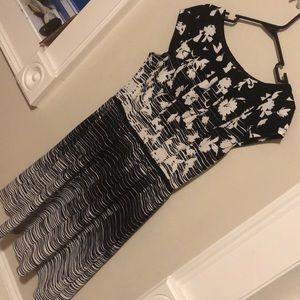 Like new - black and white dress